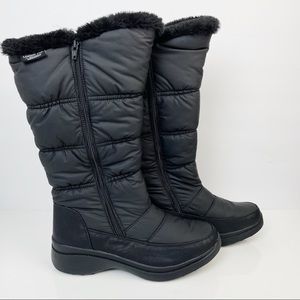 London Fog Perla Tall Double Zip Winter Boots